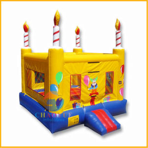 Yellow Birthday Cake Inflatable Bouncy Jumping Castle for Kids pictures & photos