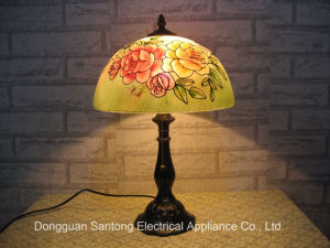 Painting Tiffany Table Lamps with Glass Shades