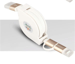 Mobile Accessories Retractable 2-in-1 USB Data Cable for iPhone Samsung pictures & photos