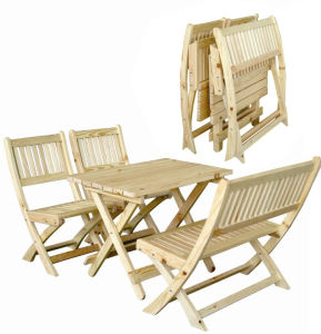 Garden Wooden Furniture Foldable Table and Chairs