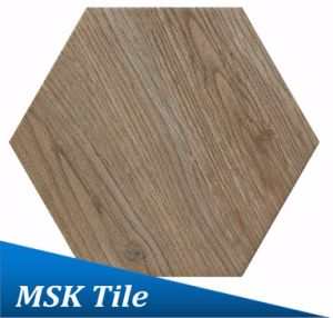 200X230 Porcelain Wood-Look Hexagon Tile Kl-07-Y1