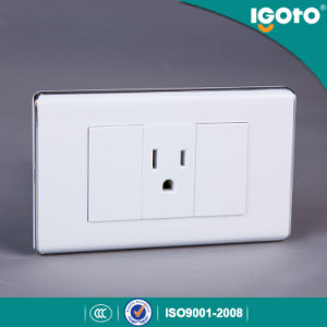 South American White Color 3 Pin Socket pictures & photos