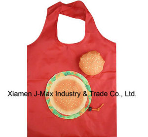 Foldable Shopping Bag, Food Hamburg Style, Reusable, Lightweight, Tote Bags, Gifts, Promotion, Grocery Bags and Handy, Accessories & Decoration pictures & photos