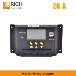 High Efficiency PWM Solar Charge Controller for Solar Power Energy (20A)