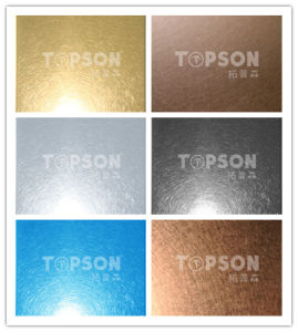 201 304 316 Decorative Color Stainless Steel Sheet Plate with Vibration Finish