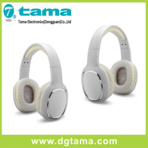 New White Overhead Wireless Bluetooth Headphone with in-Line Microphone