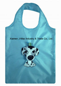 Fashion Reusable Foldable Shopping Promotion Bag with 3D Pouch, Animal Dog Style, Reusable, Lightweight, Grocery Bags and Handy, Eco, Gifts pictures & photos