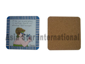 Square Full Color Printing Cork Coaster (CC28) pictures & photos