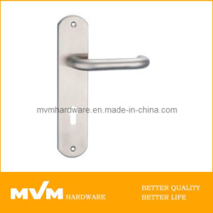 Stainless Steel Door Handle on Plate (S1506) pictures & photos