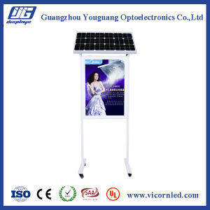 Double side Solar Powered LED Light Box