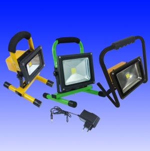 20W Portable LED Floodlights with Built-in Rechargeable Battery