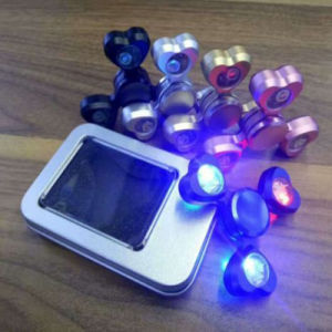 Hearts LED Flashing Aluminum Alloy Fidget Hand Finger Tri-Spinners