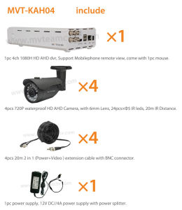 Ahd DVR Kit 720p Cameras IR Night Vision Smartphone pictures & photos