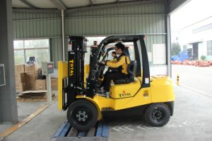 Total Forklift 3 Ton Diesel Forklift with Japanese Engine Isuzu C240 Engine pictures & photos