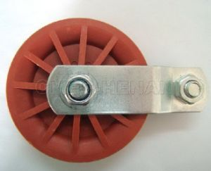 "3.5"" Plastic/Nylon Rope Pulleys /Poultry Equipment Parts, Red pictures & photos"
