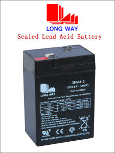 6V4.5ah Scooter Rechargeable UPS Lead Acid Battery pictures & photos