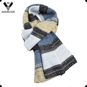 Hot Selling Winter Trendy Colorful Stripe Stretch Knitted Scarf