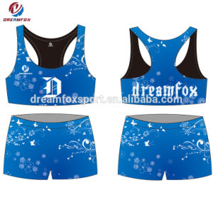 ad85671981c44c Design Sublimated Sexy Women Cheerleading Crop Tops and Shorts Wholesale  Custom Cheerleading Uniforms
