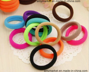 Colorful Seamless Hair Elastics 24PCS Box Fabrics Stretchy Hair Rope Hair  Bands c055755afd6