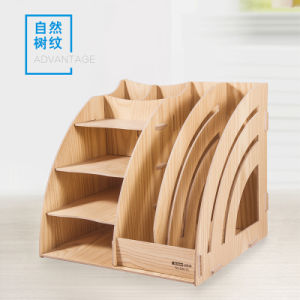 Detachable Desktop Storage Box Wooden Diy Office Stationery Organizer