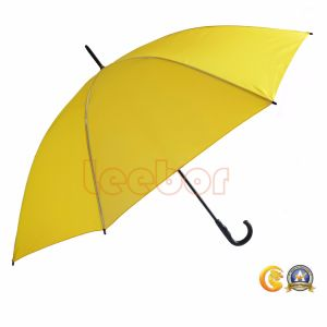 Cheapest Price Whole Sale Yellow Golf Umbrella, Advertising Straight Umbrella
