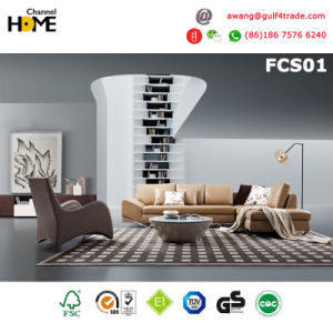 Modern Living Room Sectional Leather Sofa (FCS01)