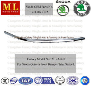 Chromed Front Bumper Trim, Strip for Skoda Octavia From Year 2004 (OEM Parts No.: 1ZD 807 717A) pictures & photos