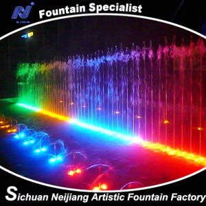 Musical Water Fountain with Lighting Effects