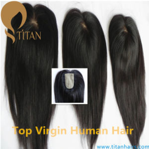 100% 5A Brazilian Human Virgin Hair Closure for Women