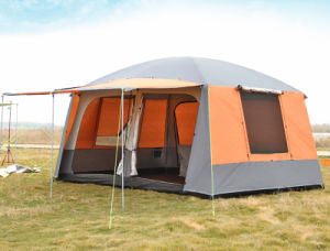 B2b Manufacturer 6 Large Rooms Family Group Camping Tent 190t Polyester