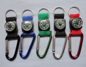 Promotional Cheap Custom Carabiner Keychain Compass pictures & photos