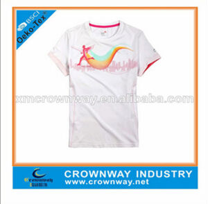 Girls Sport Dry Running T Shirt with 100% Polyester (CW-S-RS24) pictures & photos