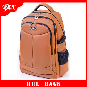 Cl3005 Yellow Multifunctional Double Zipper School Laptop Backpack