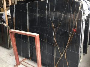 Noir Aziza Marble Slab for Interior Wall