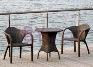 by-450 Hotel Coffee House Rattan Outdoor Dining Chairs Three-Piece Furniture