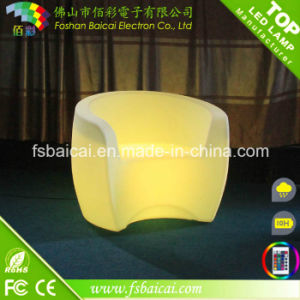 Single Seat LED Decorative Furniture, Single Seat Plastic LED Banquet Chair, Illuminated LED Chair LED Seat for Banquet