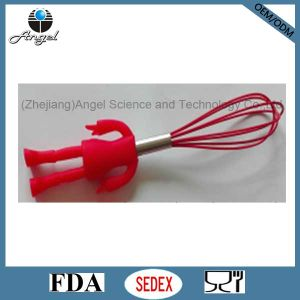 Hot Sale Silicone Egg Tool with Human Shape Handle Se04