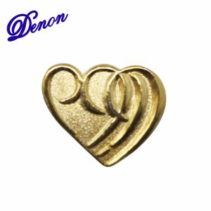 Heart Gold Plate Promotional Custom Lapel Enamel Pin