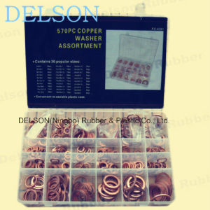 Copper Washer Kit 30size 570PCS Copper Ring pictures & photos