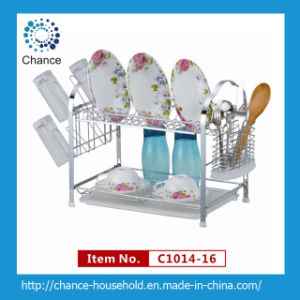 Double Layer Wall-Hung Dish Rack for Kitchenware (C1014-16)