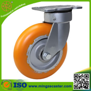 Orange PU on Aluminum Core Wheel Caster pictures & photos