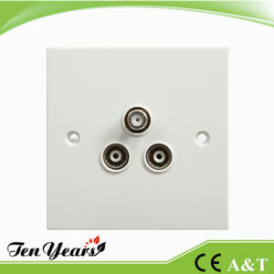 New Design FM+TV Satellite Switched Socket Outlet