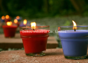 Citronella Candle in Clear Glass Jar with Color Wax (SK9006)