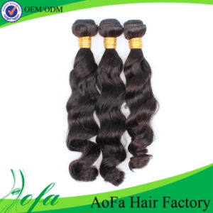 7A Indian Nice Wavy Hair 100% Human Virgin Hair Weft pictures & photos