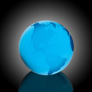 Blue Water Globe with Flat Bottom (#968-C1111) pictures & photos