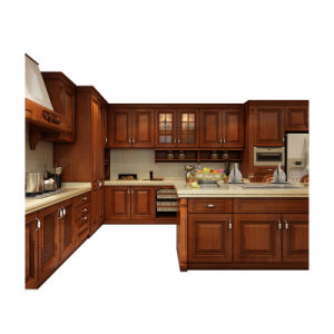 Luxury Design High End Solid Red Cherry Wood Kitchen Cabinet