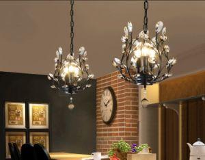 Crystal Chandeliers Ceiling Lights Pendant Lighting Light Fixtures 3 Black Golden