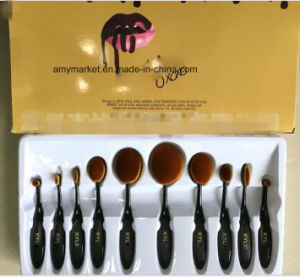 Kylie Multipurpose Toothbrush Style Cosmetic Brush 10 PCS/Set Makeup Brush Set pictures & photos