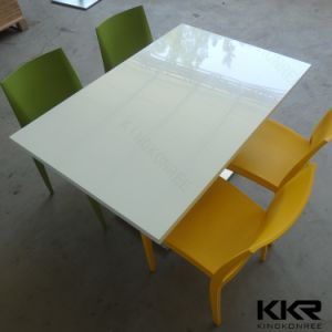 Modern Solid Surface Restaurant Furniture Dining Table and Chair Set pictures & photos