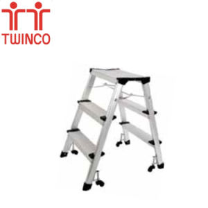 Factory Supplier Step Ladder Aluminum Folding Step Stool Ladders pictures & photos